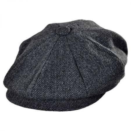 B2B Jaxon Naples Wool Herringbone Newsboy Cap