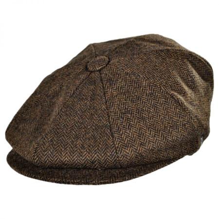 B2B Jaxon Kensington Wool Herringbone Newsboy Cap