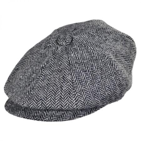 B2B Jaxon Verona Wool Herringbone Newsboy Cap