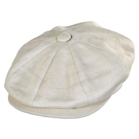 B2B Jaxon Linen Newsboy Cap
