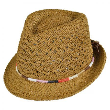 San Diego Hat Company Color Block Band Toyo Straw Fedora Hat
