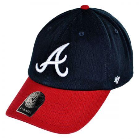 Atlanta Braves MLB Clean Up Strapback Baseball Cap Dad Hat alternate view 5
