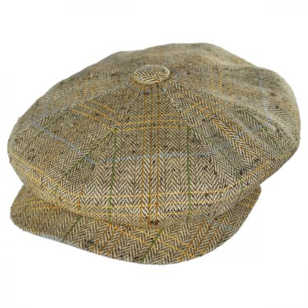 City Sport Caps Silk Herringbone Newsboy Cap