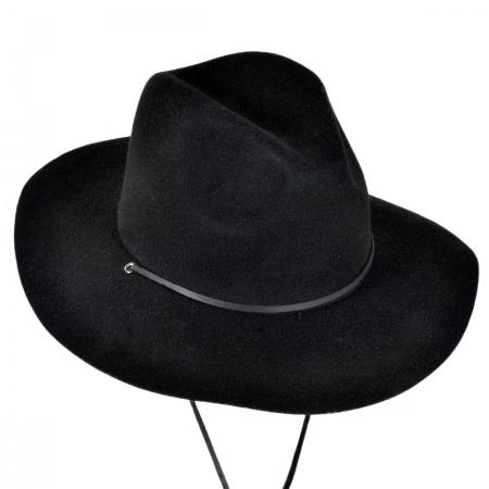 Brixton Hats Mayfield Wool Felt Wide Brim Fedora Hat