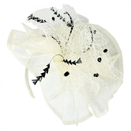 Jeanne Simmons Meringue Fascinator Hat