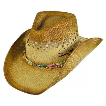 Panama Jack Bead Outback Western Hat