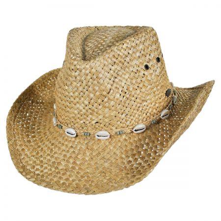 Panama Jack Puka Shells Outback Western Hat