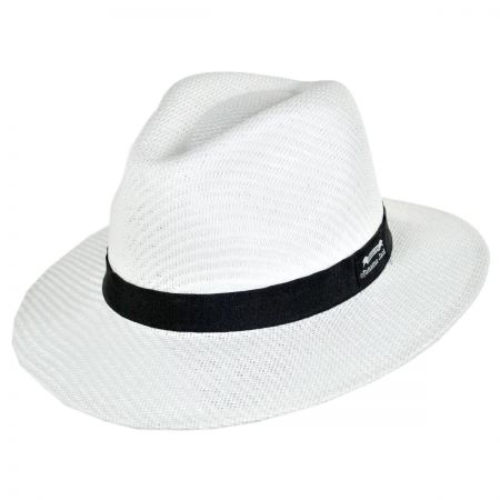 Ribbon Toyo Straw Safari Fedora Hat alternate view 5