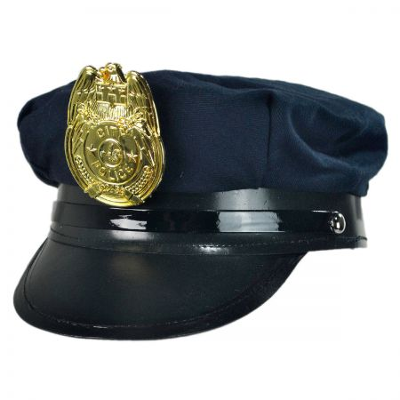 B2B Cotton Police Hat with  Badge