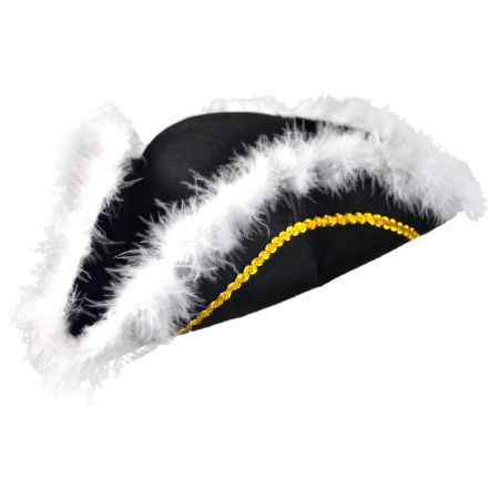 B2B Felt Tricorn with Feather