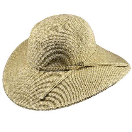 Tweed Toyo Straw Floppy Sun Hat alternate view 5