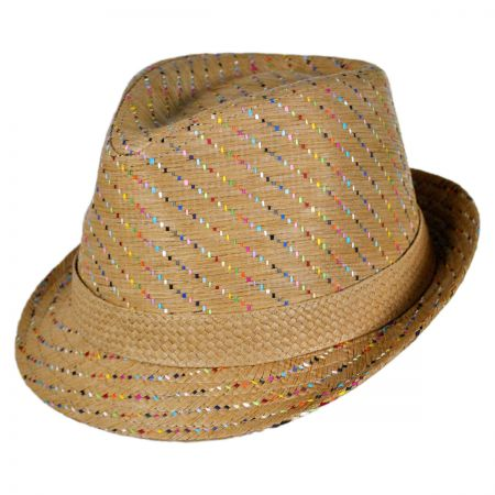 Tropical Trends Pixels Toyo Straw Fedora Hat