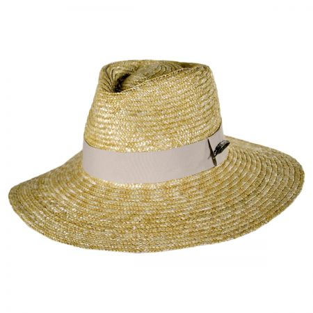 Brixton Hats Dixie Wheat Straw Wide Brim Fedora Hat