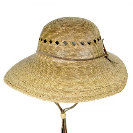 Laurel Lattice Palm Straw Facesaver Hat alternate view 1