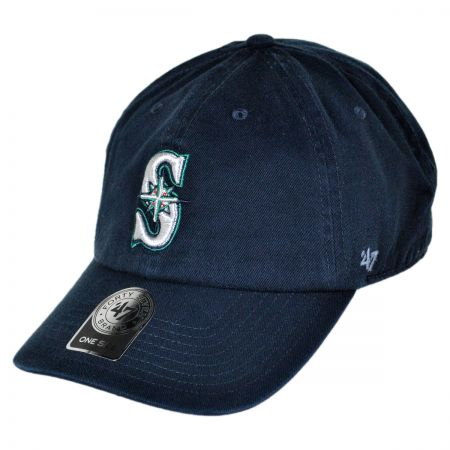 47 Brand Seattle Mariners MLB Clean Up Strapback Baseball Cap