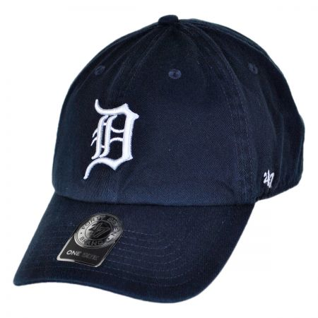 47 Brand Detroit Tigers MLB Clean Up Strapback Baseball Cap Dad Hat