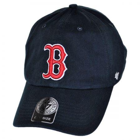 Boston Red Sox MLB Home Clean Up Strapback Baseball Cap Dad Hat alternate view 1