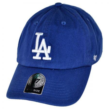 47 Brand Los Angeles Dodgers MLB Clean Up Strapback Baseball Cap Dad Hat