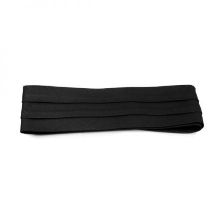 Cotton Twill 3-Pleat Pug Hat Band - Black