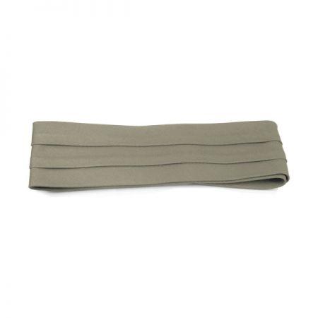 Cotton Twill 3-Pleat Pug Hat Band - Khaki