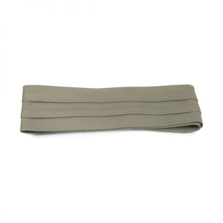 Village Hat Shop 3-Pleat Pug Twill Cotton Hat Band - Khaki