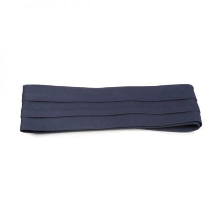 Cotton Twill 3-Pleat Pug Hat Band - Navy Blue