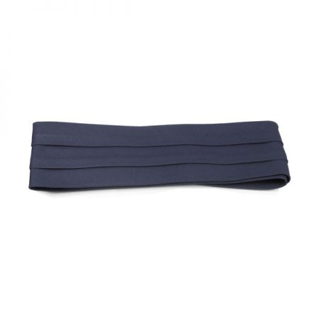 Village Hat Shop Cotton Twill 3-Pleat Pug Hat Band - Navy Blue