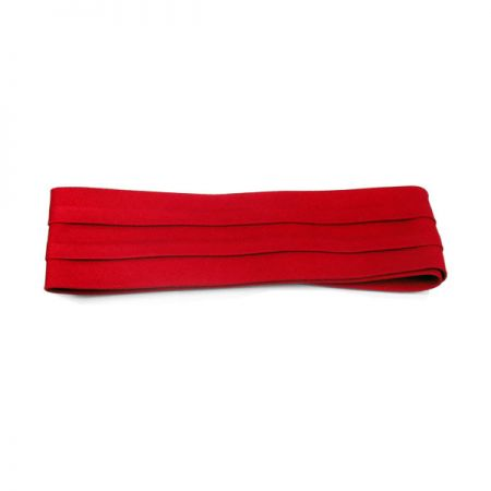Village Hat Shop 3 Pleat Twill Pug Hatband - Red