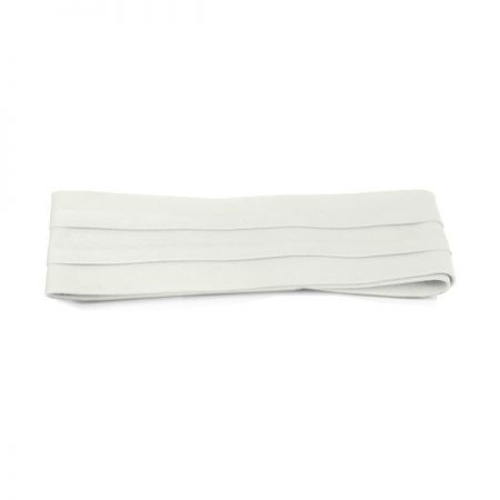 Cotton Twill 3-Pleat Pug Hat Band - White