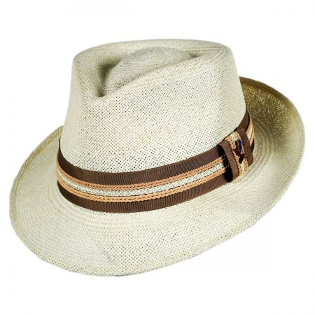 Carlos Santana Chinmoy Panama Straw Fedora Hat w/ Box