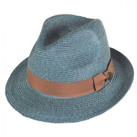 Goorin Bros Crystal Blue Sisal Straw Fedora Hat