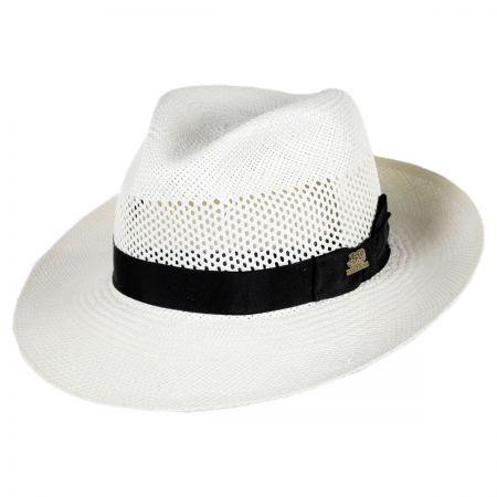 Stetson 150th Anniversary Aviator Panama Straw Fedora Hat