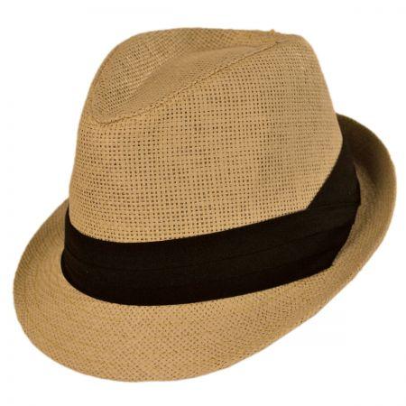Kid's Toyo Straw Classic Fedora Hat