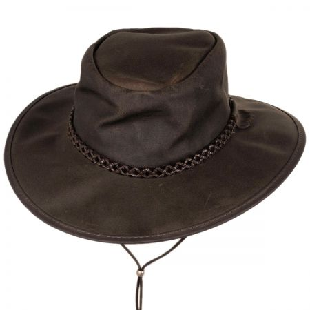 Head 'N Home Crusher Leather Outback Western Hat