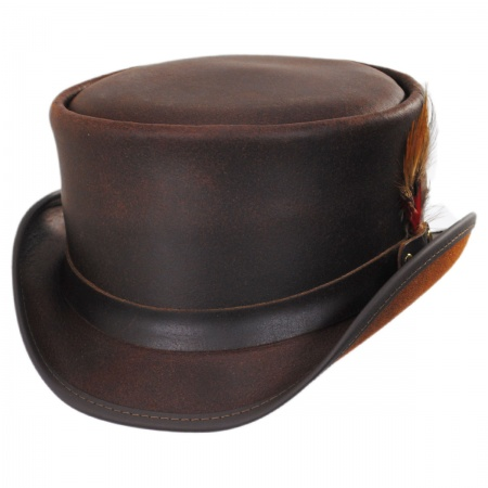 Head 'N Home Marlow Leather Top Hat