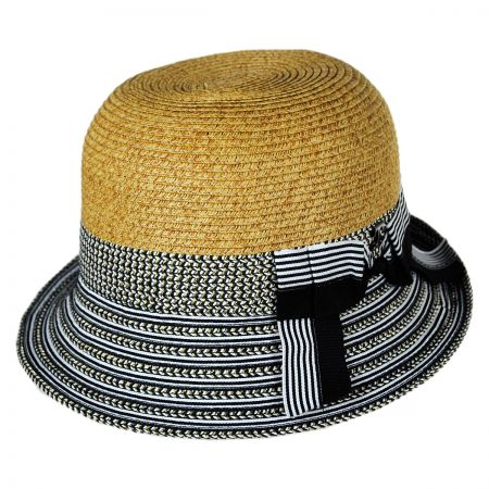 Callanan Hats Striped Brim Cloche Hat