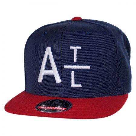 American Needle Atlanta Braves MLB Divided Snapback Baseball Cap