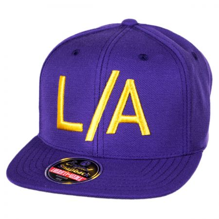 American Needle Los Angeles Lakers NBA Divided Snapback Baseball Cap