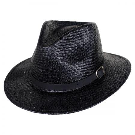 Brixton Hats Leighton Sisal Straw Fedora Hat