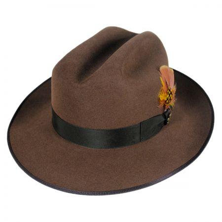 Biltmore Bastille Cattleman Crown Fur Felt Fedora Hat
