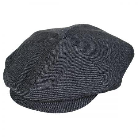 Brixton Hats Ollie Linen Newsboy Cap