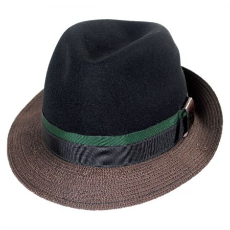 Carlos Santana Eclipse Wool Felt Crown Fedora Hat