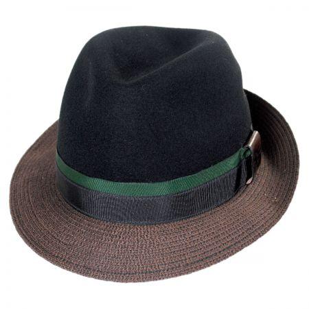 Carlos Santana Eclipse Wool Felt Crown Fedora Hat