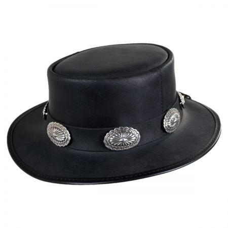 Stevie Leather Topper Hat alternate view 1