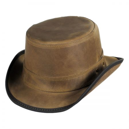 Head 'N Home Stoker Leather Top Hat