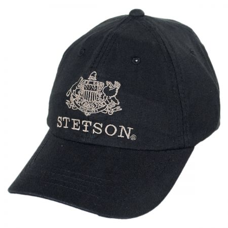 Stetson Iconic Logo Strapback Baseball Cap Dad Hat