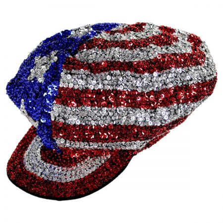 JC Sequins USA 4 Sequin Brando Cap