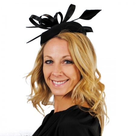 sur la tete Charisse Wool Pillbox Fascinator Hat