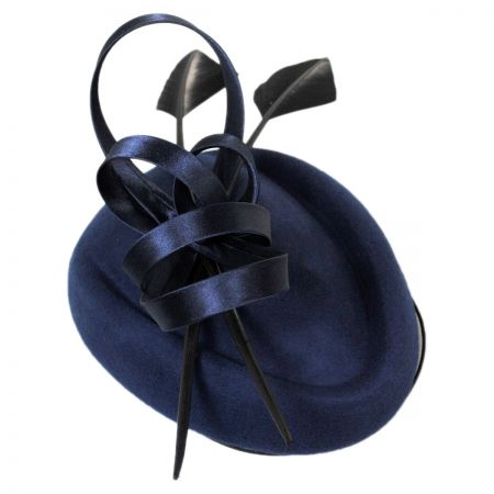 sur la tete Charisse Wool Pillbox Fascinator Hat