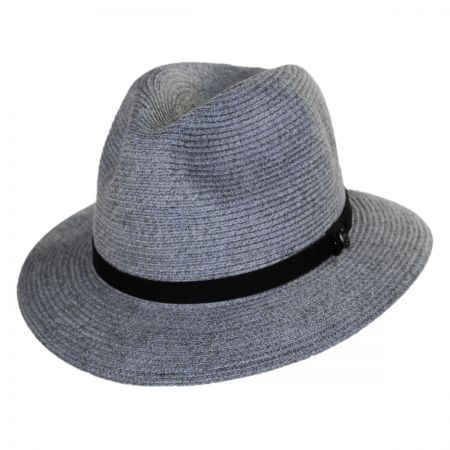 Ramie Hemp Straw Blend Safari Fedora Hat alternate view 1
